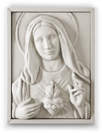 Immaculate Heart (Bisque)