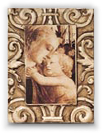 Mother and Child with Border