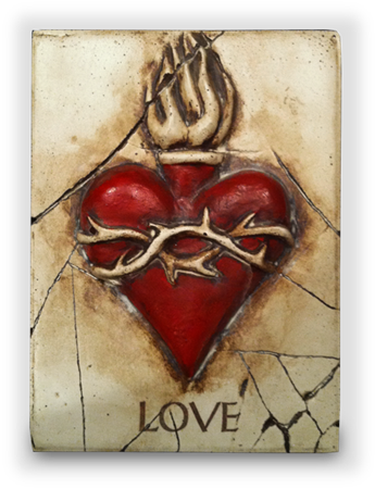 Love and Sacred Heart (Red)
