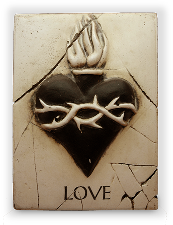 Love and Sacred Heart (Black)