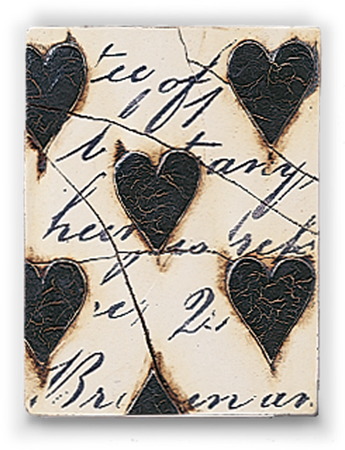 Black Hearts with Script
